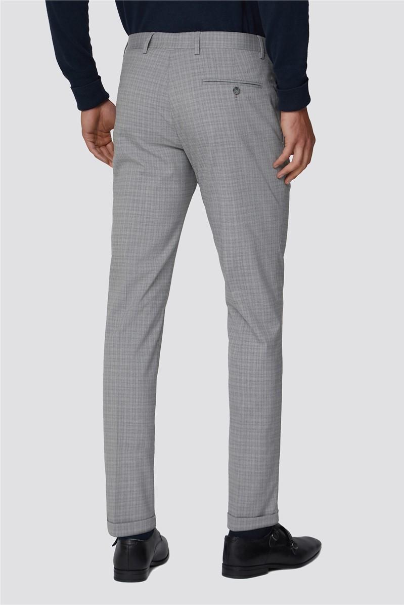 Grey Semi Plain Trouser