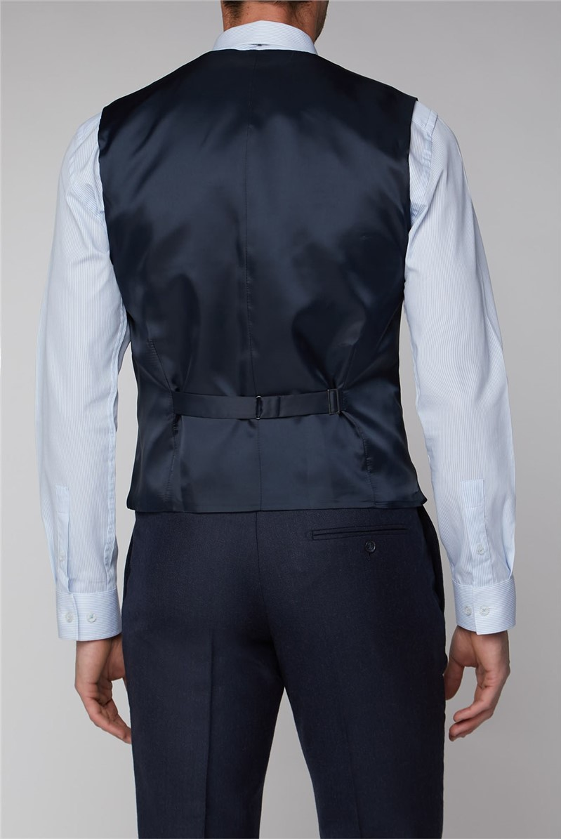 Navy Texture Tailored Fit Suit