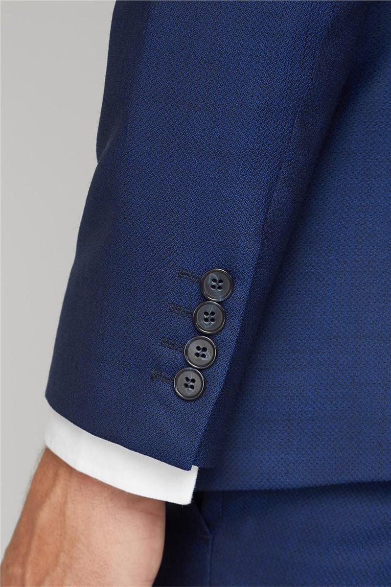 Blue Texture Tailored Fit Suit