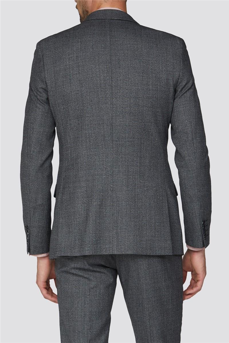 Charcoal Texture Slim Fit Suit Trouser