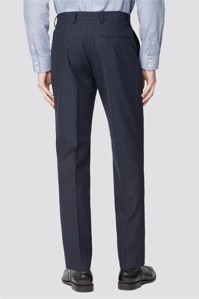 Deep Blue Texture Slim Fit Suit