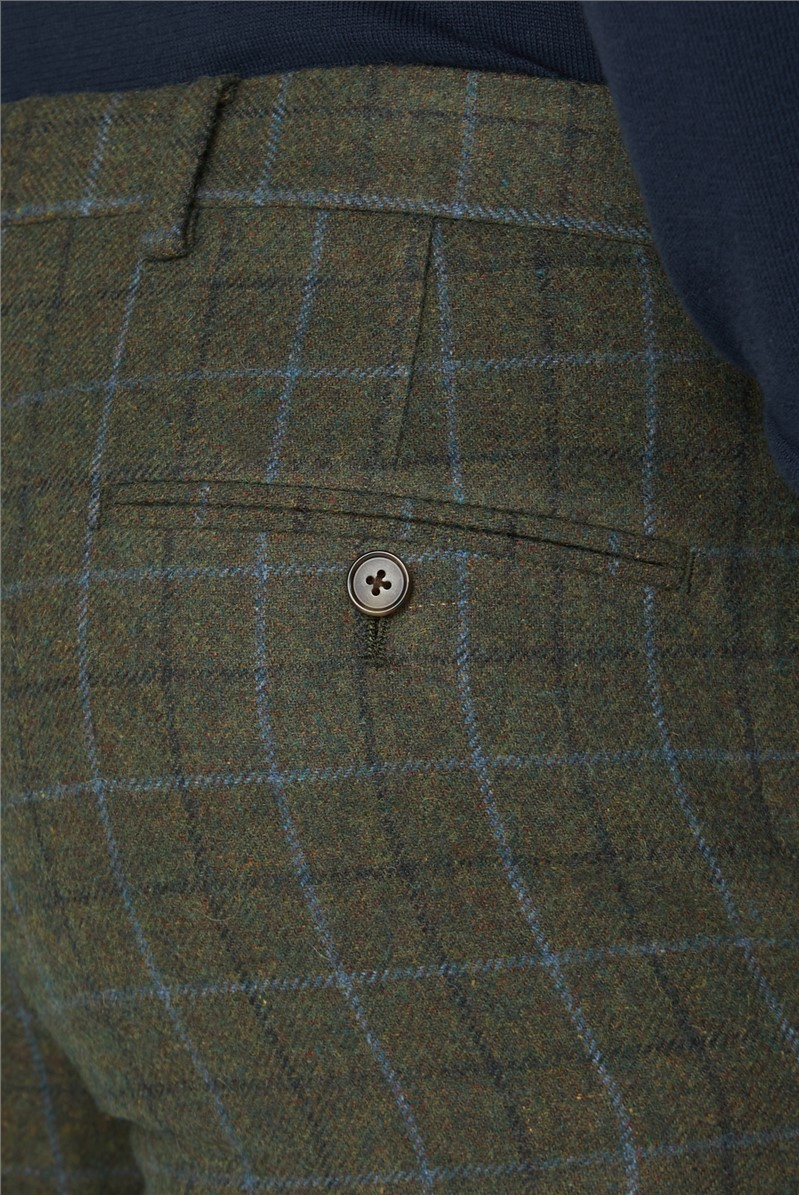 Green Heritage Tweed Slim Fit Suit Trousers