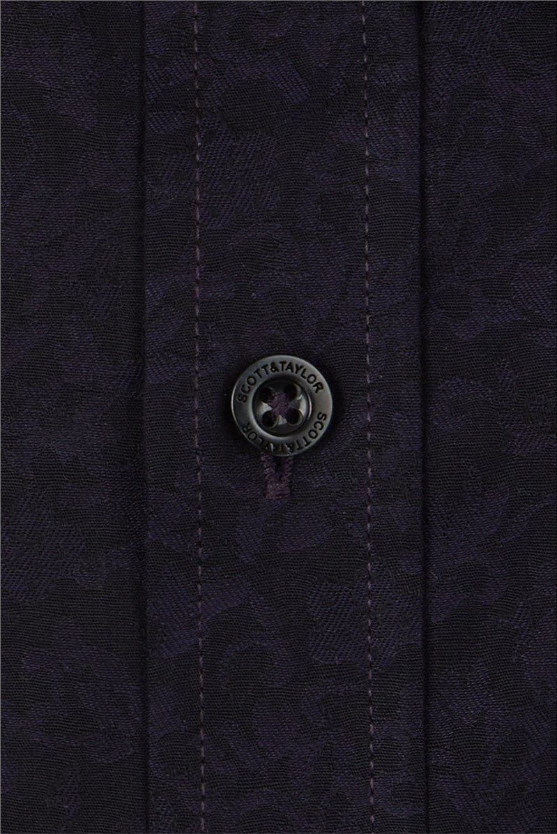 Purple Jacquard Shirt