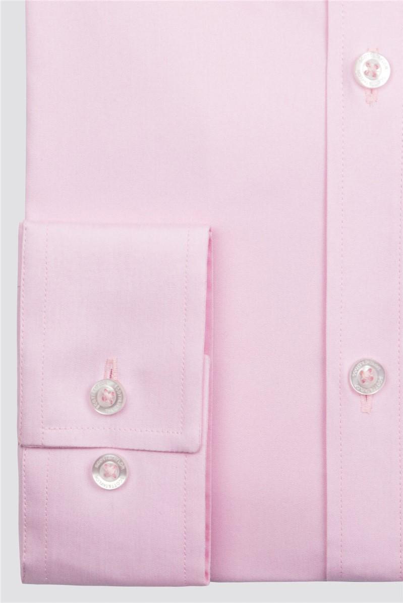 Pink Poplin Single Cuff Shirt