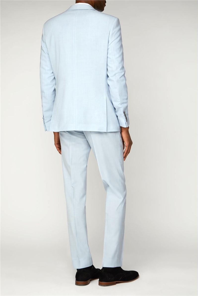Light Blue Slim Fit Summer Suit