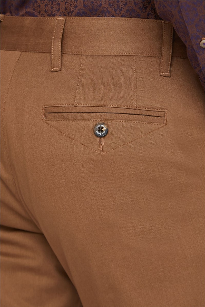 Winter Beige Stretch Chino Trouser