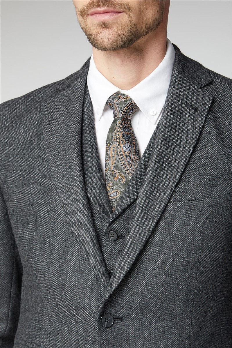Charcoal Donegal Tailored Suit Waistcoat