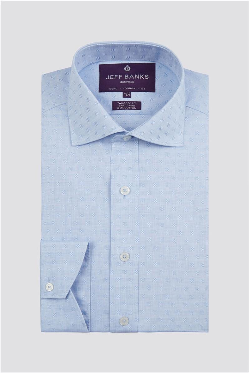 Bespoke Light Blue Window Dobby Shirt