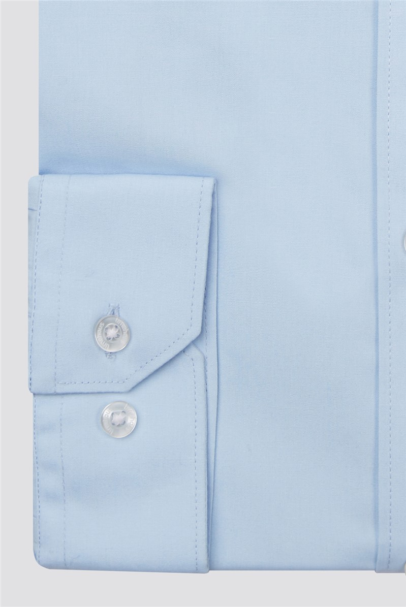 Slim Fit Blue Single Cuff Shirt