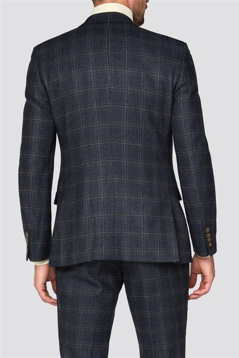 Navy Check Heritage Tweed Waistcoat