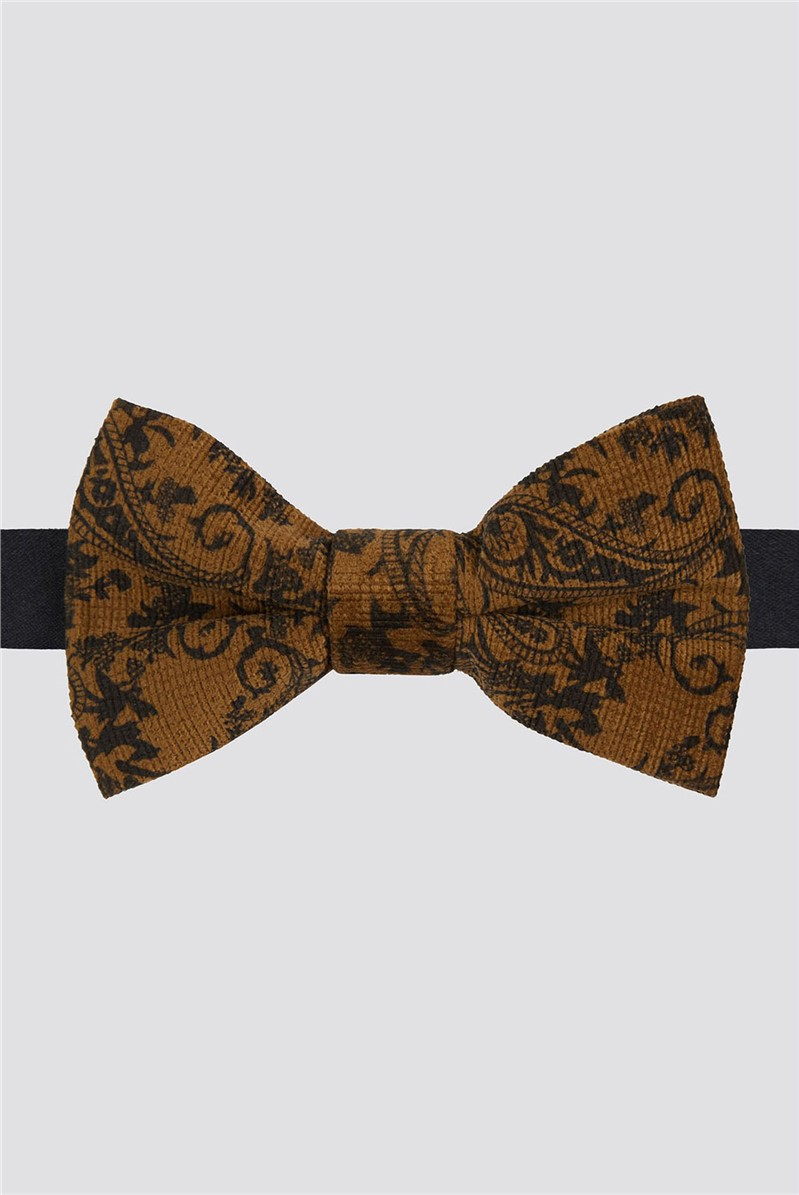 Gold Baroque Paisley Bow Tie