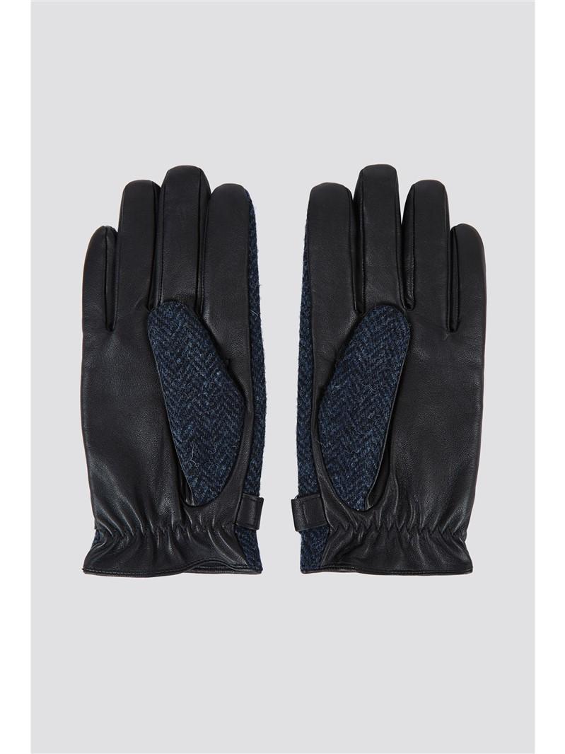 Harris Tweed Blue Donegal Glove
