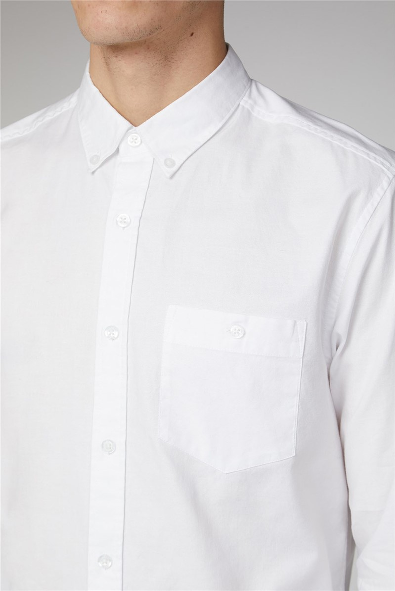 Molkom Long Sleeve Plain Oxford Shirt