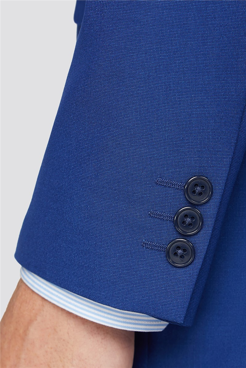 Bright Blue Tailored Fit Two Piece Suit
