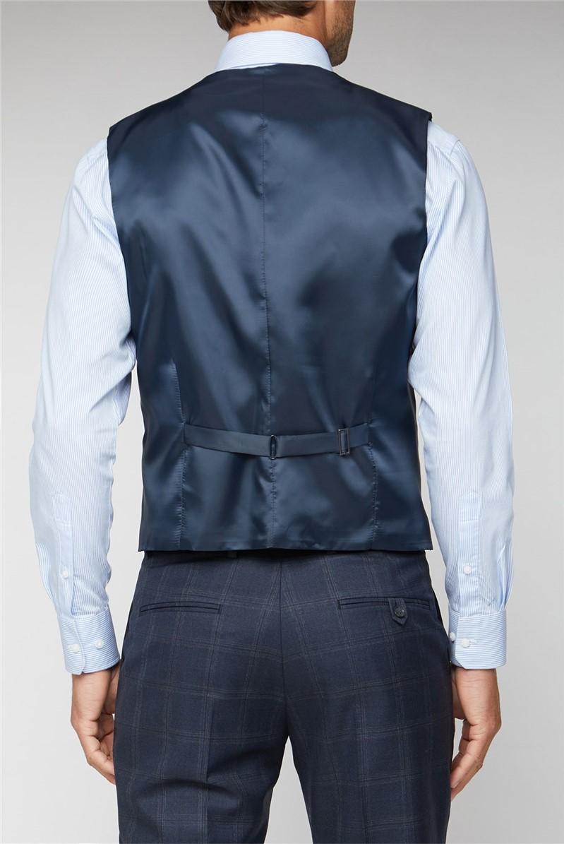 Navy Tonal Check Performance Regular Fit Suit