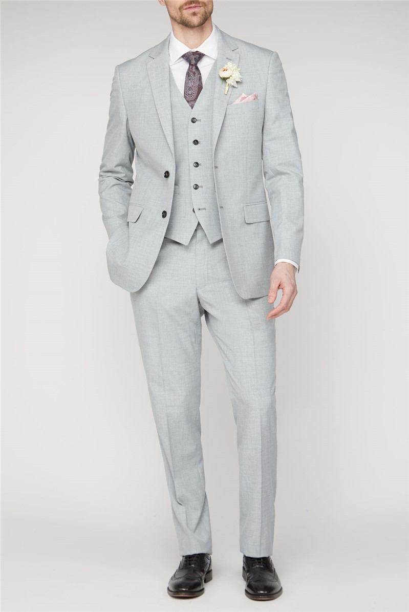 Occasions Light Grey Texture Regular Fit Suit