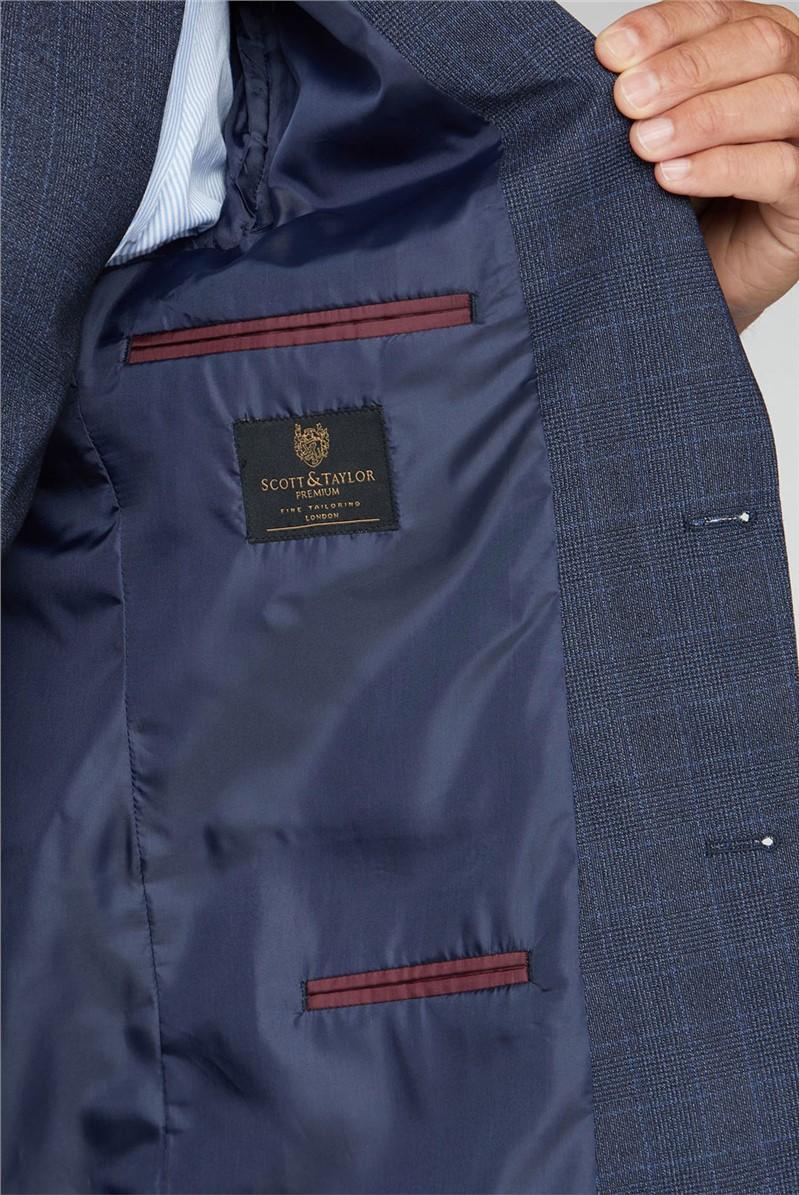 Navy Tonal Check Waistcoat