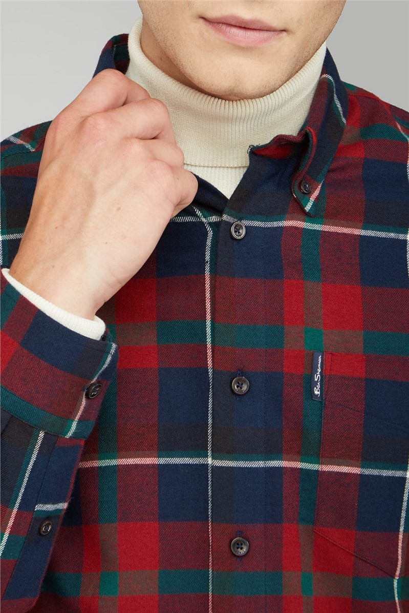 Oversized Brushed Tartan Shirt