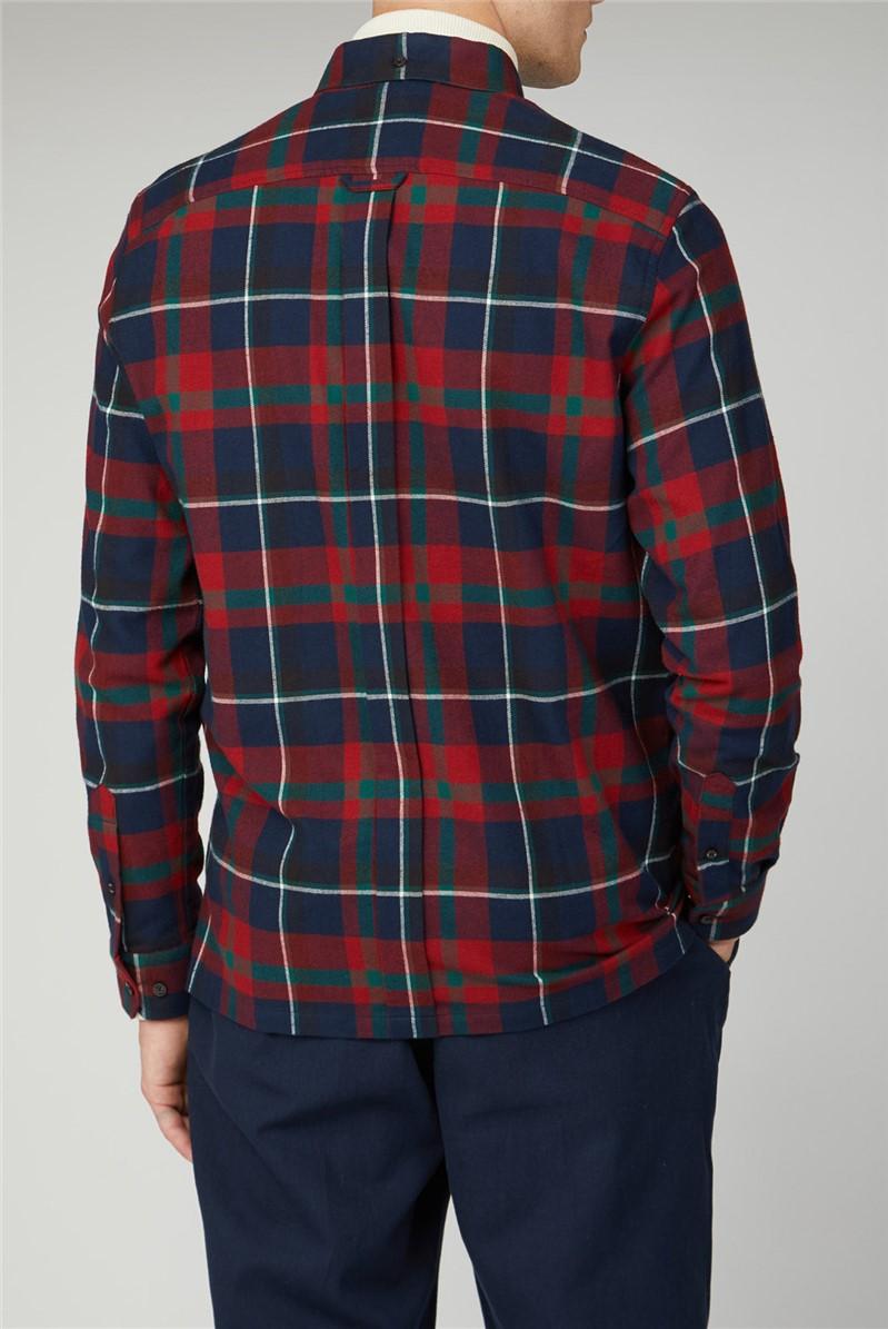 Oversized Brushed Tartan Shirt