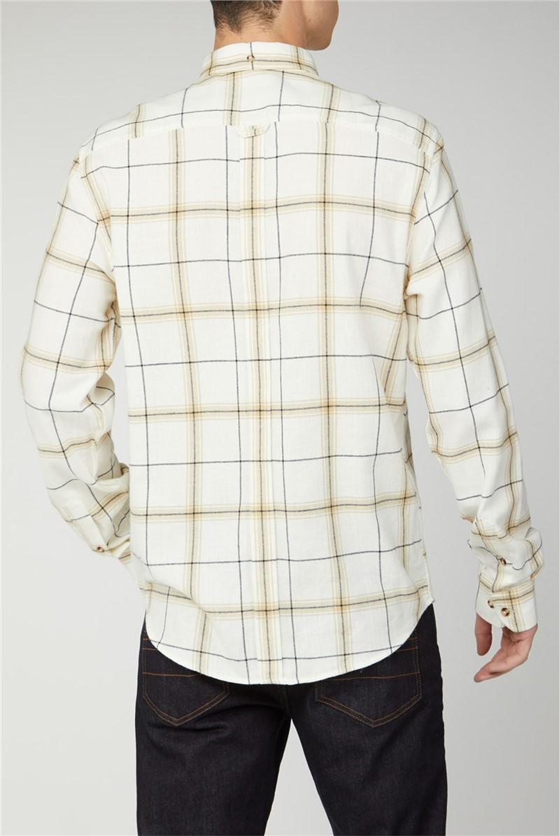 Oversized Herringbone Check Shirt