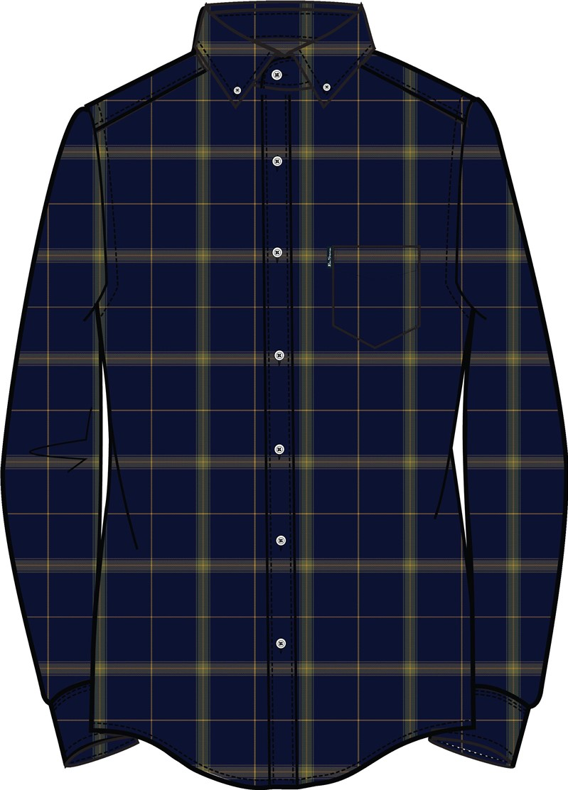 Oversized Herringbone Check Shirt