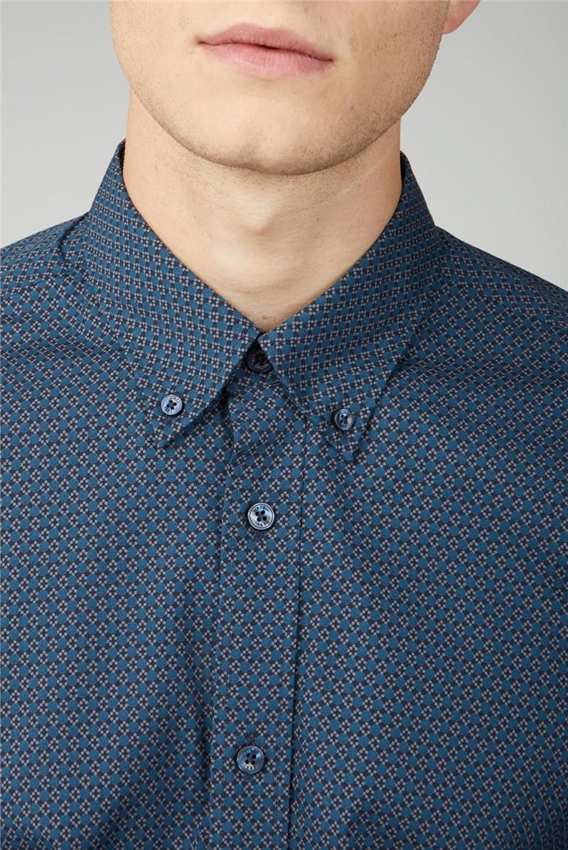 Retro Spot Print Shirt