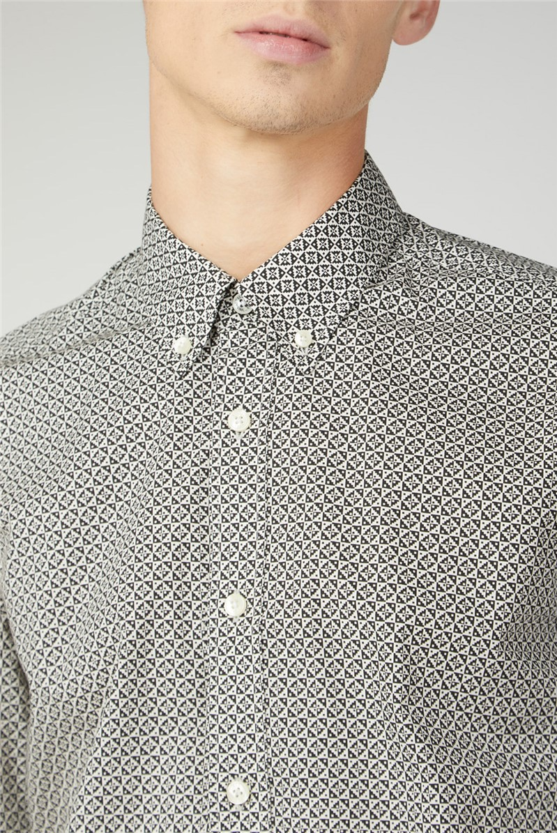 Mono Geo Print Shirt