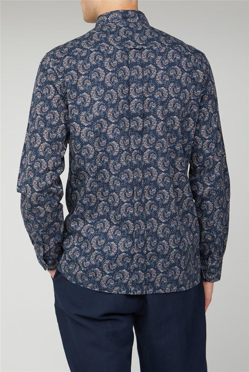 Archive 60s Floral Print Shirt