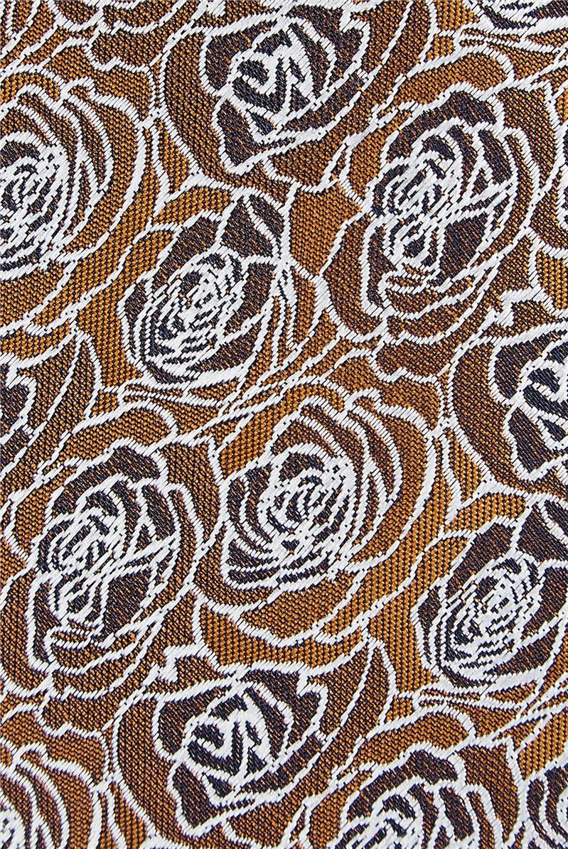 Burnt Orange Roses Tie
