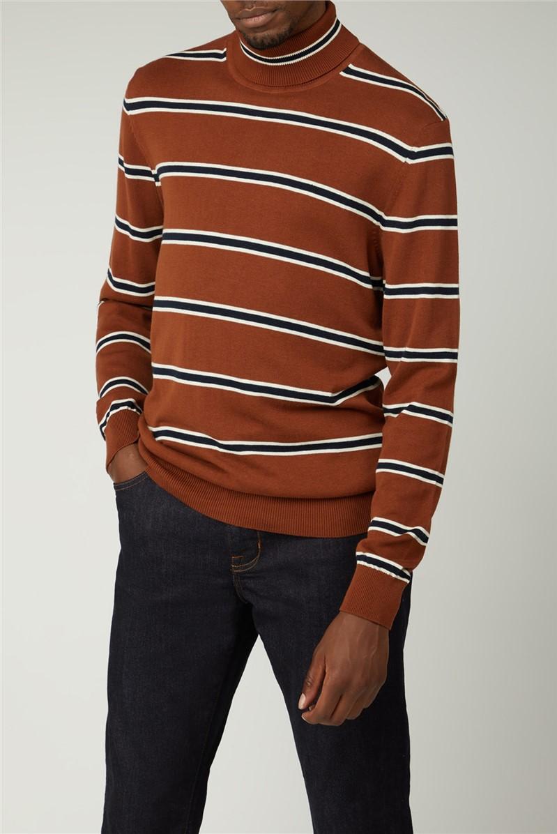 Stripe Roll Neck