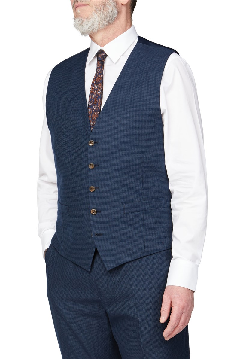 Deep Blue Structure Big and Tall Suit
