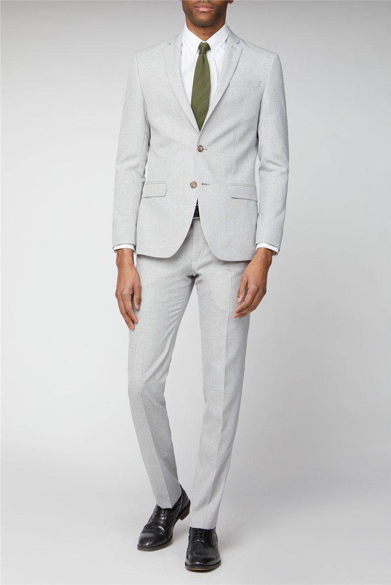 Ice Grey Slim Fit Suit