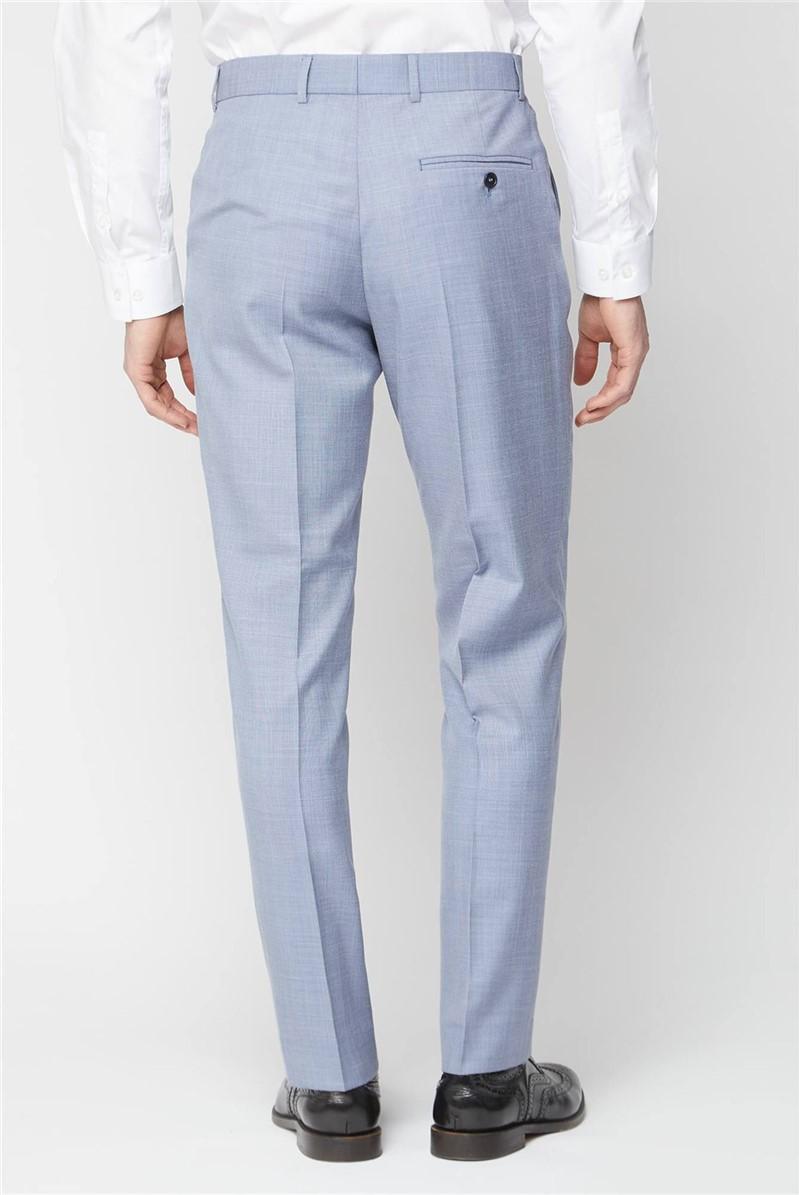 Pale Blue Regular Fit Trouser