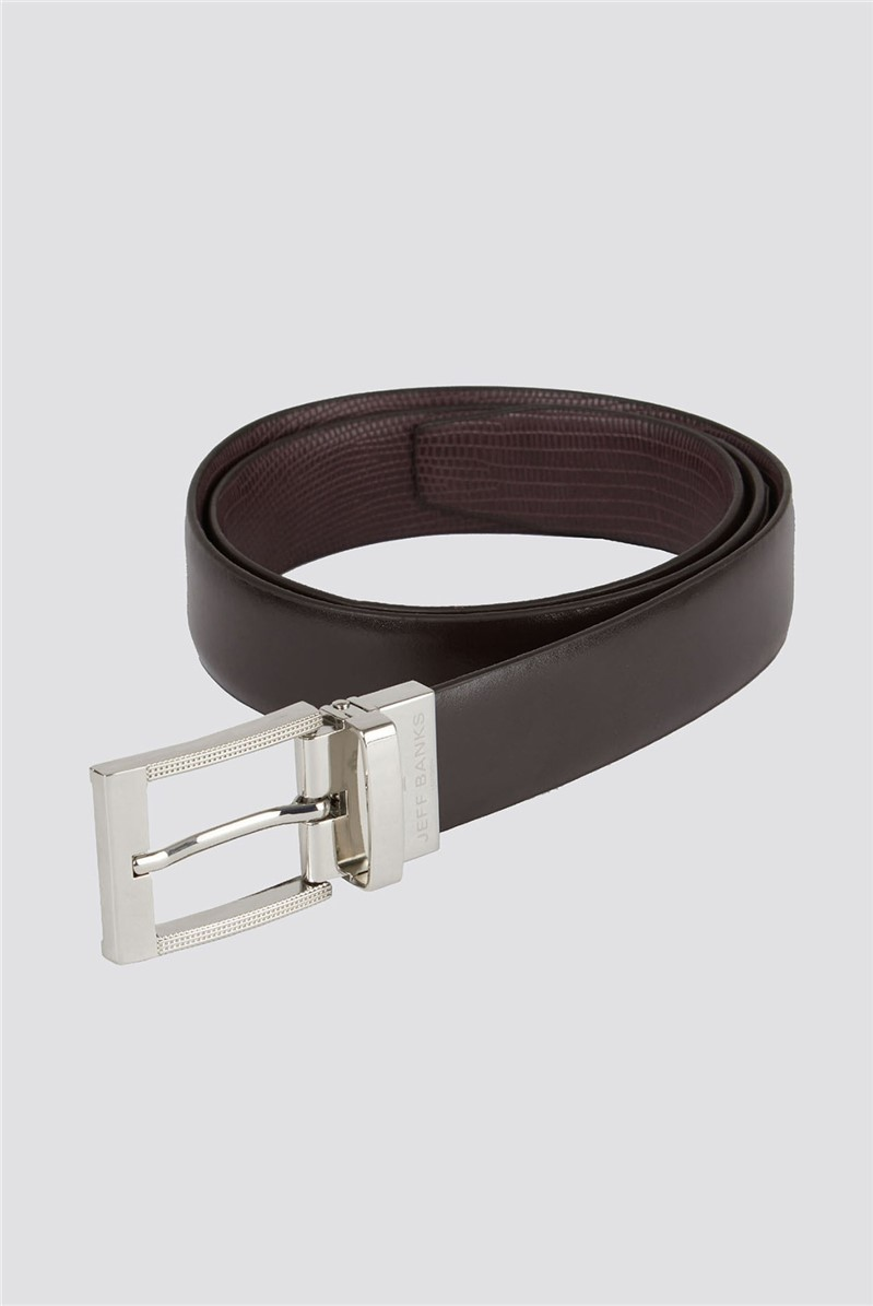 Brown Burgundy Reversible Belt