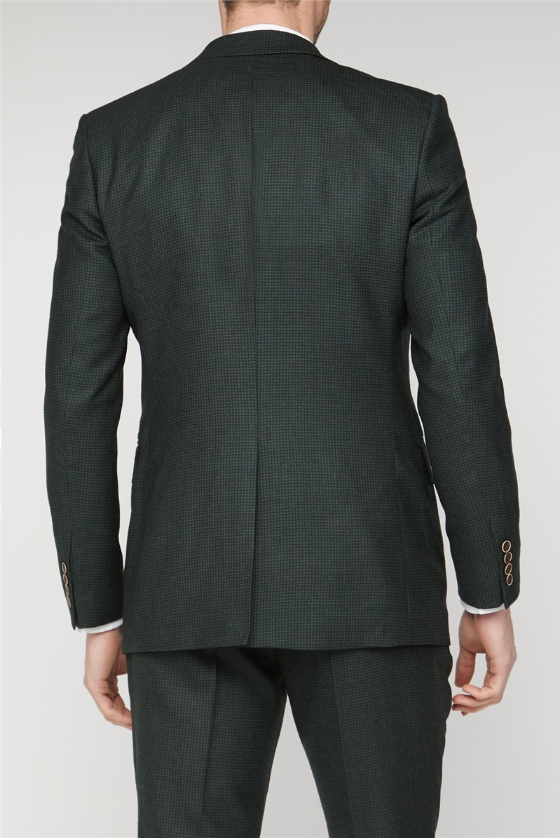 Branded Green Puppytooth Tailored Suit