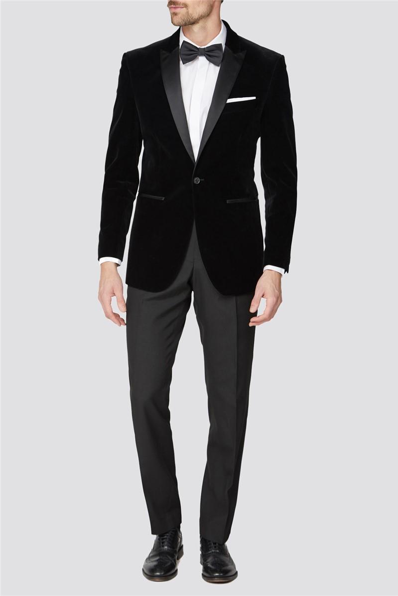 Black Velvet Regular Fit Suit