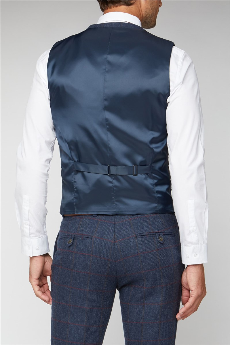 Blue Heritage Check Tailored Fit Waistcoat