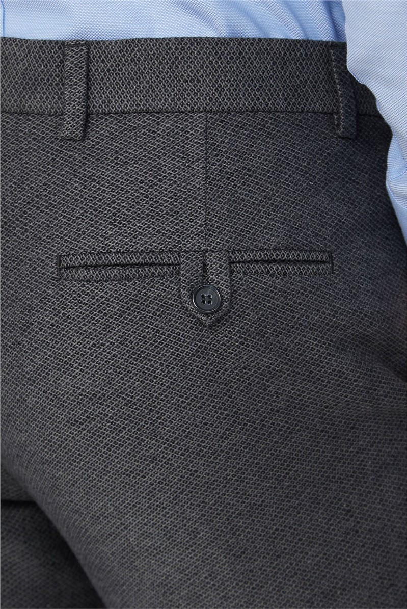 Grey Texture Tailored Fit Trousers