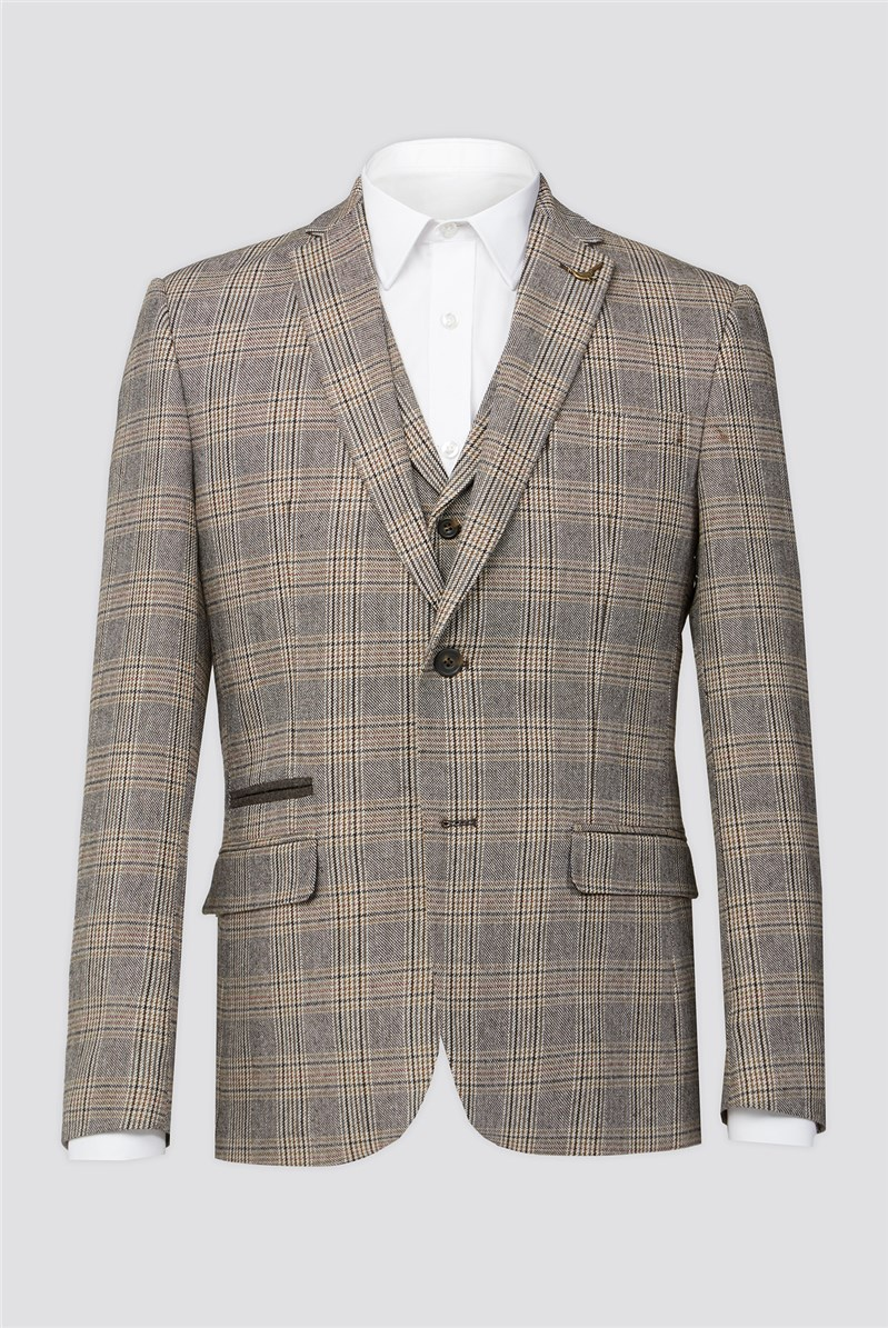 Brown Heritage Check Suit