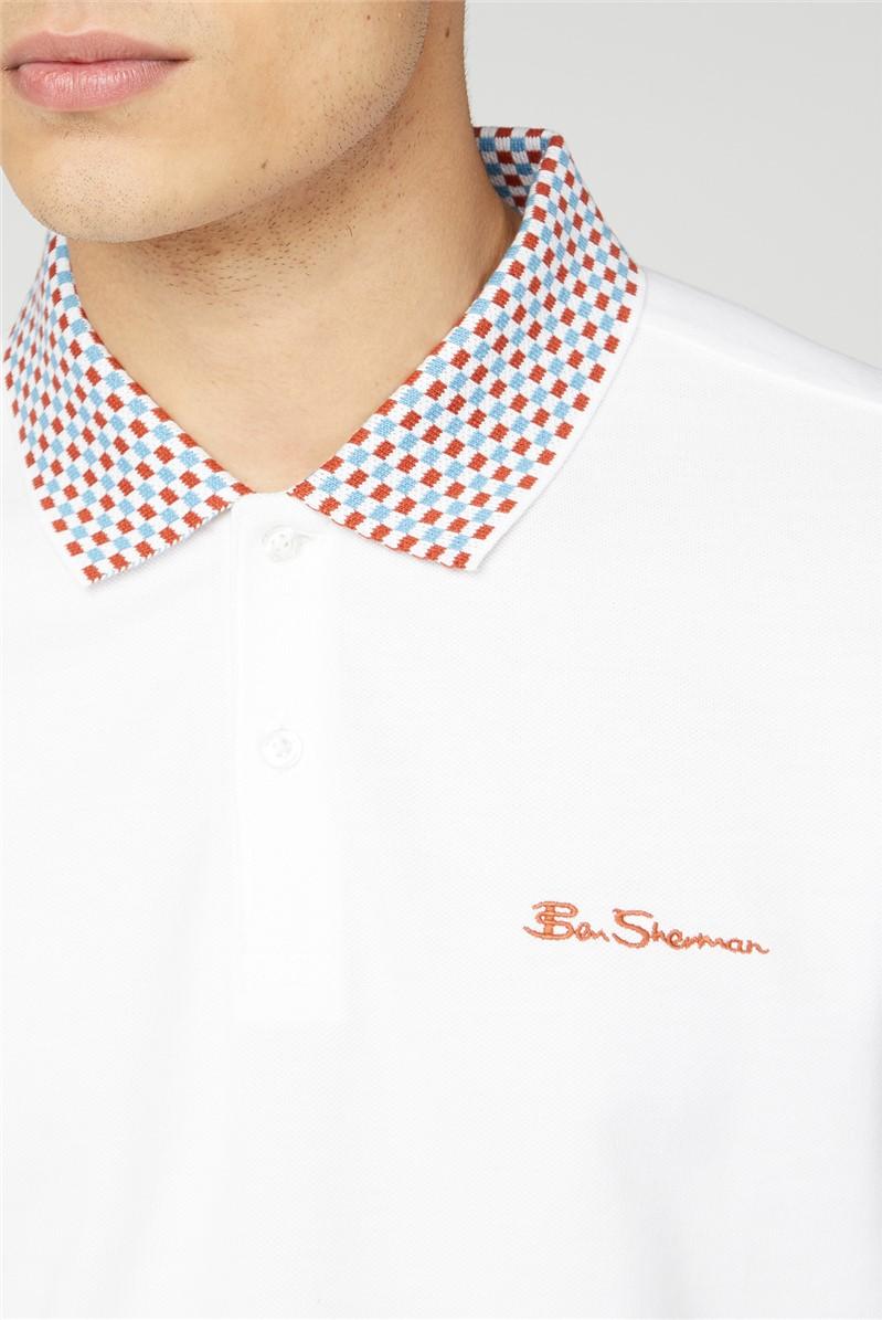 Script Patterned Collar
