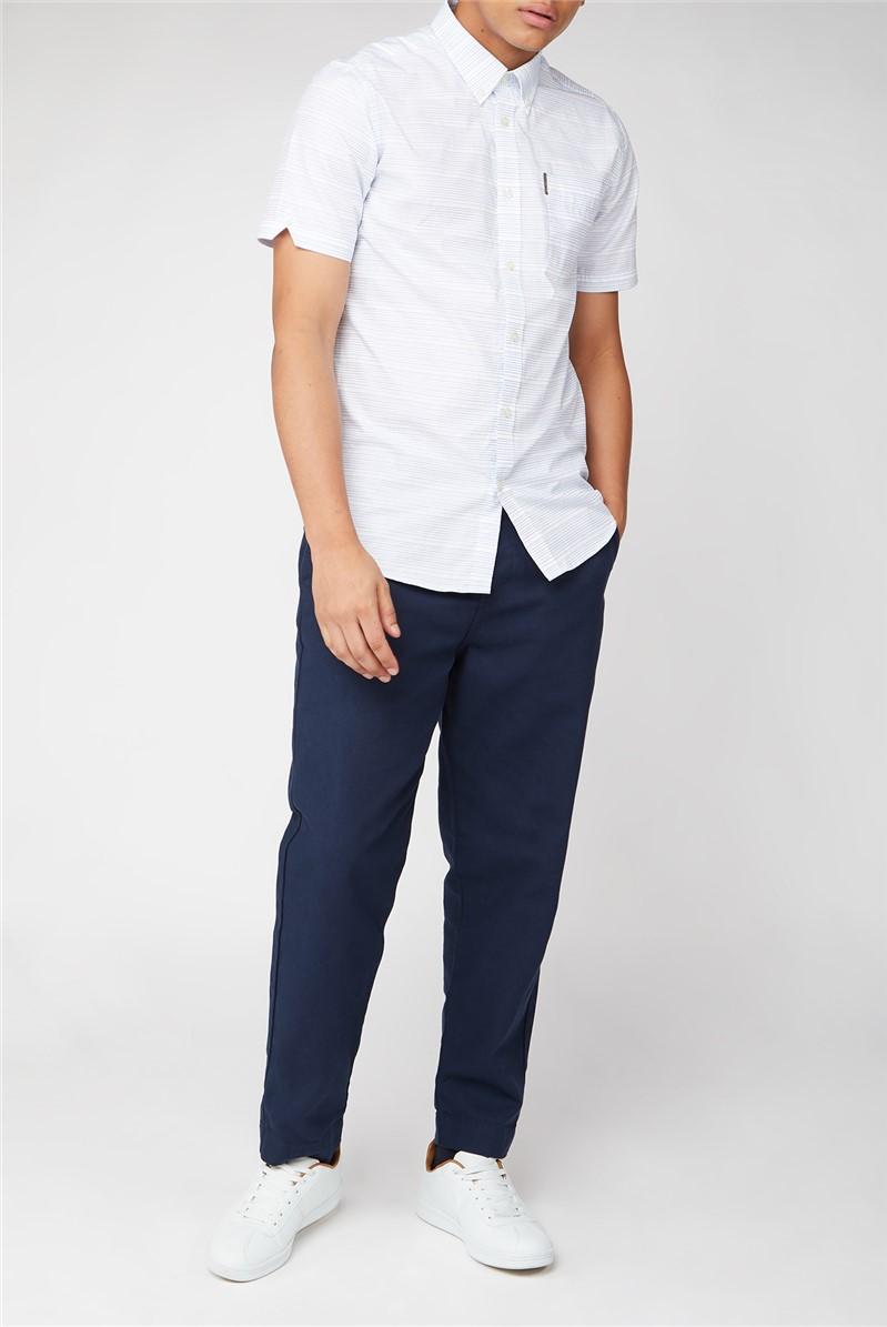 Short Sleeve Jacquard Dot Shirt