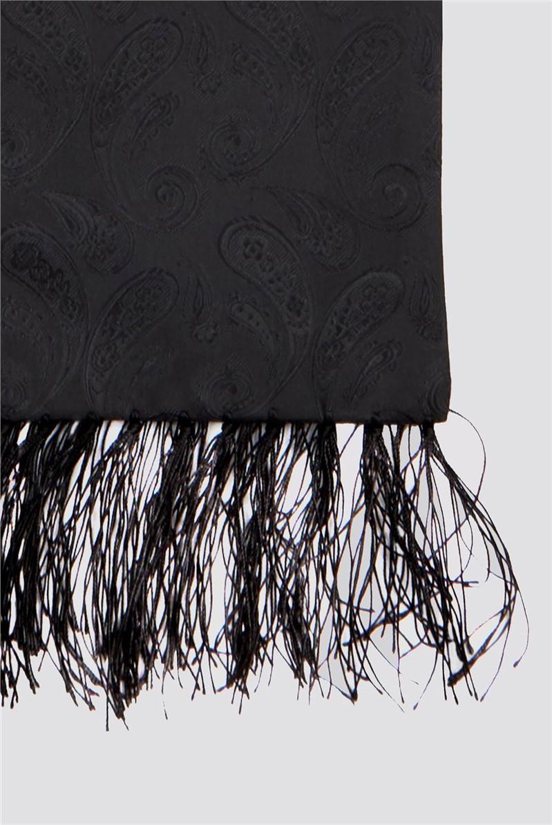 Black Paisley Dress Scarf