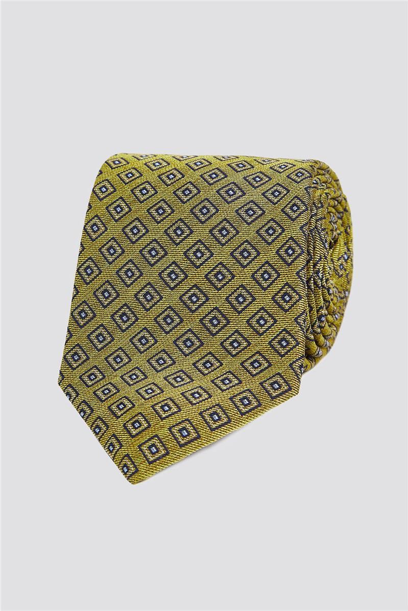 Gold Geo Square Tie