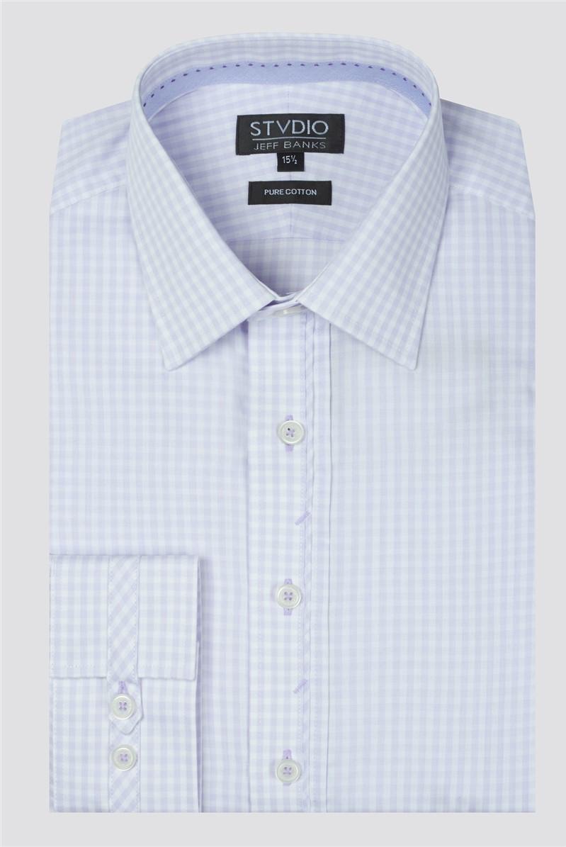 Stvdio Lilac Gingham Shirt