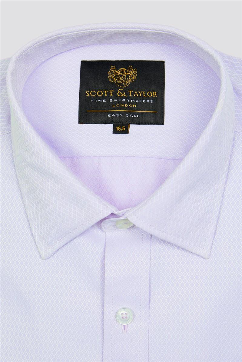 Lilac Diamond Dobby Shirt