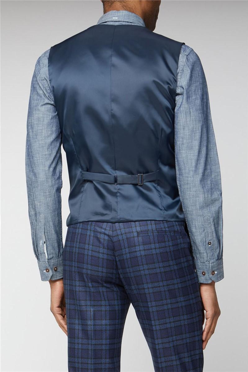 Blue Bold Check Slim Fit Suit