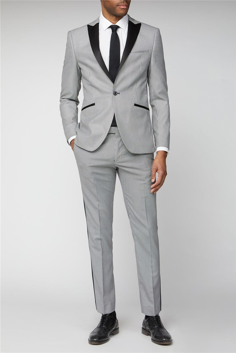 Black Puppytooth Checked Suit