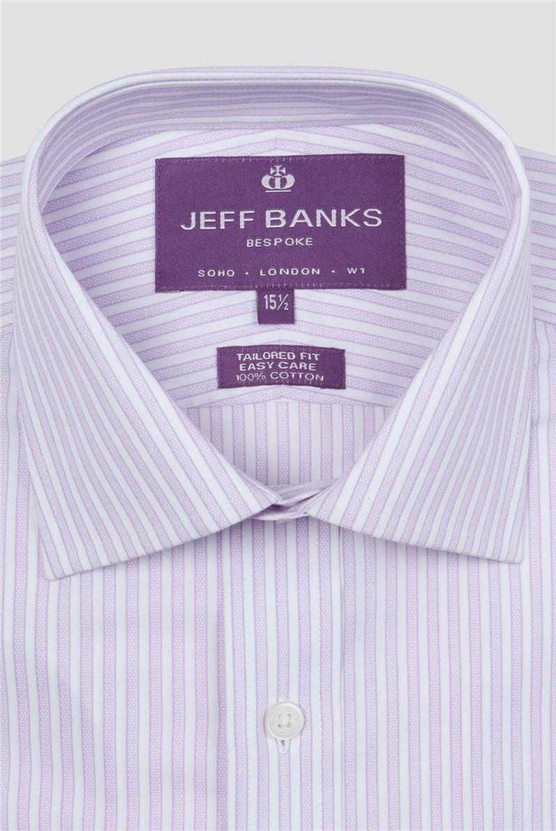 Bespoke Lilac Edged Stripe Shirt