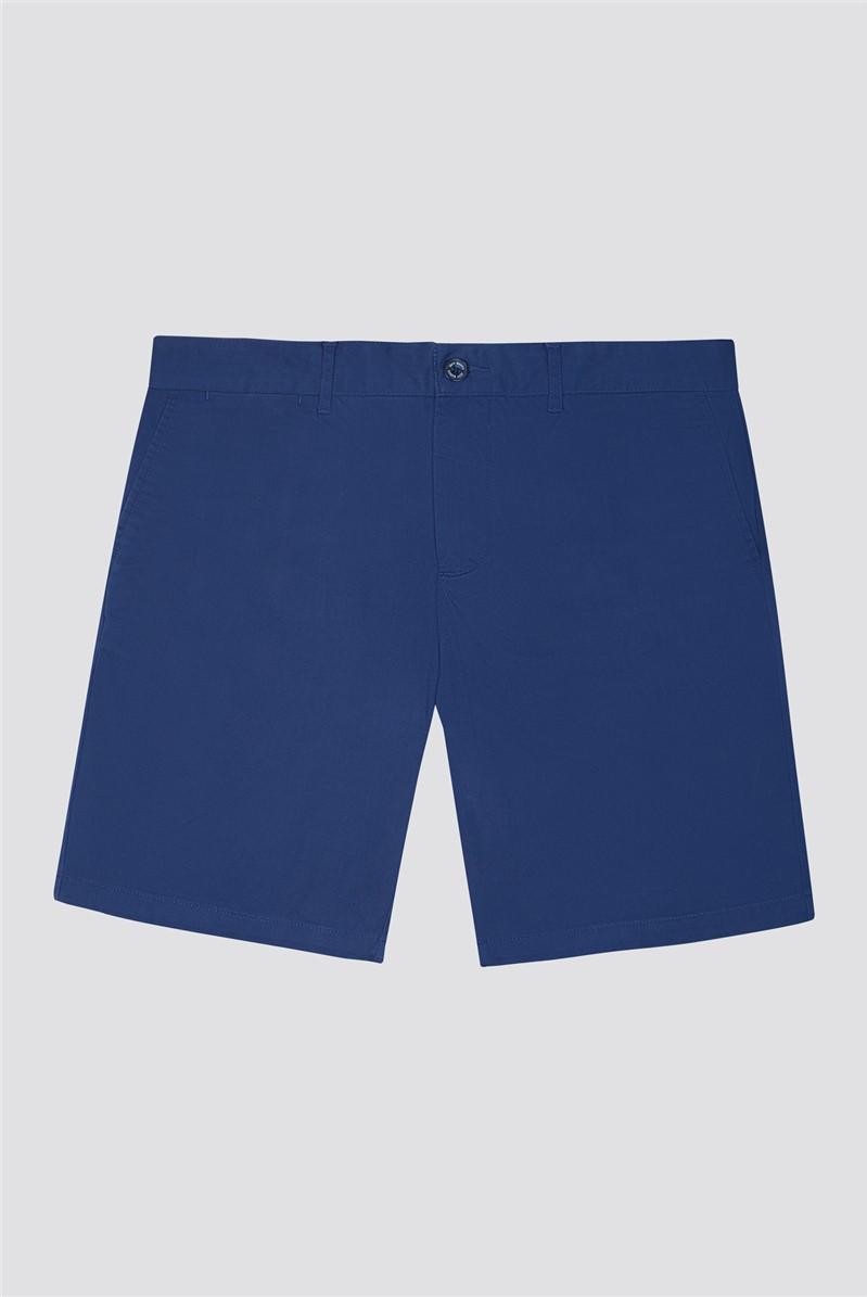 Navy Stretch Chino Shorts
