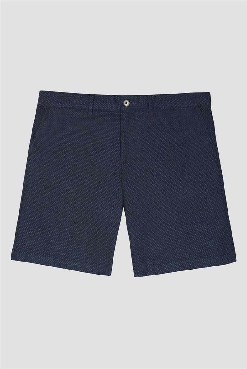 Blue textured Shorts